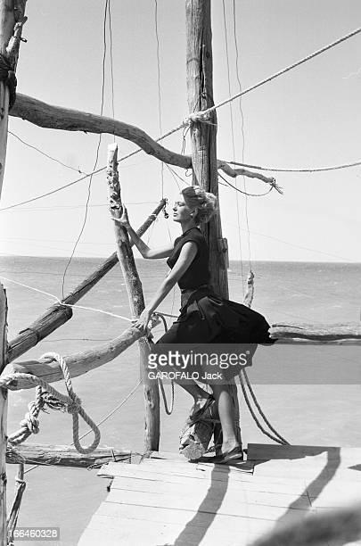 Rendezvous With Jules Dassin And Melina Mercouri On The Shooting Of 'Laloi' In 1956 En juin 1956 pendant le tournage du film 'la loi' de Jules Dassin...