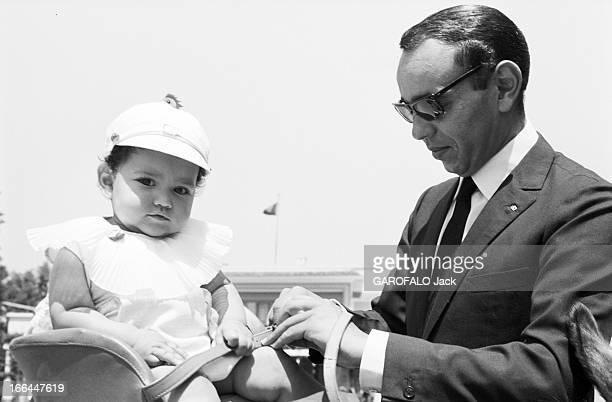 Rendezvous With King Hassan Ii Morocco And Daughter Princess Lalla Meryem Au début des années 60 dans un jardin portrait du roi HASSAN II du Maroc...