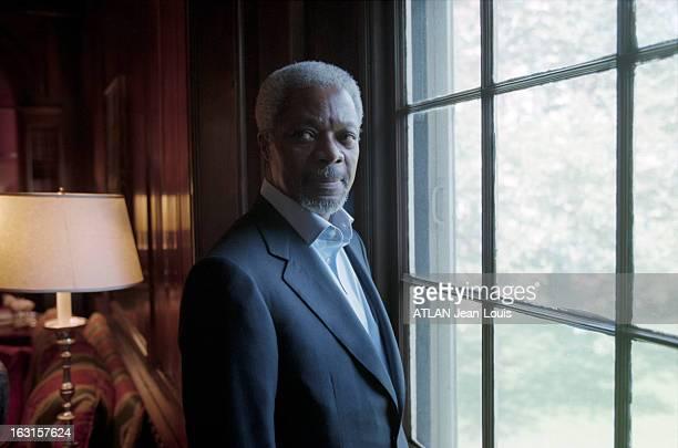 Rendezvous With Kofi Annan And His Wife Nane In Their Mansion In New York Aux EtatsUnis à New York en mai 1998 Rendezvous avec le secrétaire général...