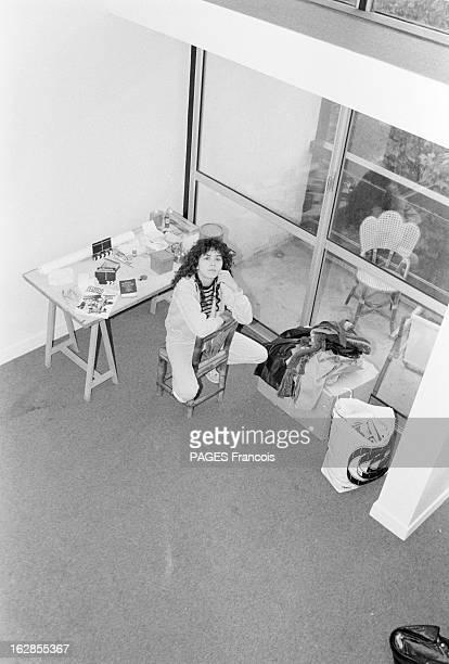 Rendezvous With Maria Schneider Le 25 octobre 1979 l'actrice Maria SCHNEIDER qui joue dans 'La dérobade' du réalisateur Daniel DUVAL vue en plongée...