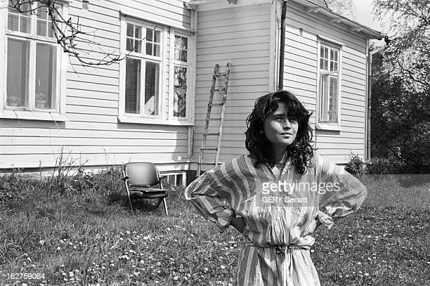 Rendezvous With Maria Schneider Suède Stockholm 28 mai 1978 Après le film 'Le Dernier Tango à Paris' l'actrice française Maria SCHNEIDER vit à...