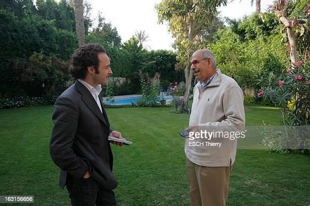 Rendezvous With Mohamed Elbaradei. Le prix Nobel de la paix 2005, Mohamed EL BARADEI dans le jardin de sa maison du Caire. Interviewé par le...