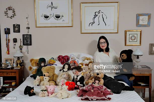 Rendezvous With Nana Mouskouri At Home In Geneva Nana Mouskouri smiling attitude of 75 years sitting on the bed in the room of his apartment with his...