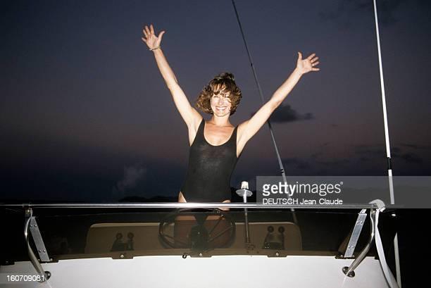 Rendezvous With Nathalie Bay In Saint Martin In The Caribbean SaintMartin aux Antilles 8 novembre 1989 A l'occasion de sa participation au 3e...
