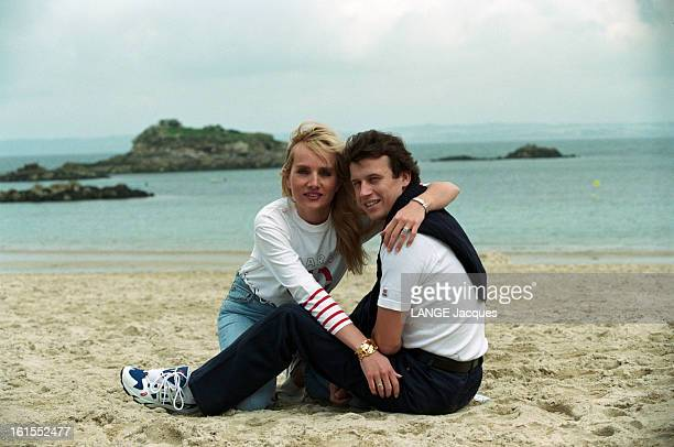 Rendezvous With Olivier Panis One Month After His Accident In Formula 1 Grand Prix Of Canada Anne et Olivier PANIS sur la plage enlacés souriant