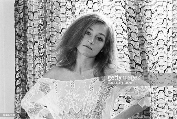 Rendezvous With Patti D'Arbanville 3 janvier 1977 l'actrice américaine Patti D'ARBANVILLE vedette du film 'Bilitis' de David Hamilton dans son...