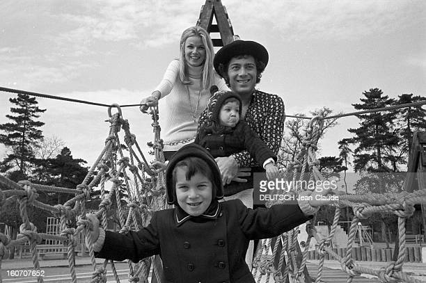 Rendezvous With Paul Anka And His Wife The Former Model Anne De Zogheb In Paris A Paris au Jardin d'acclimatation Paul ANKA avec un chapeau son...