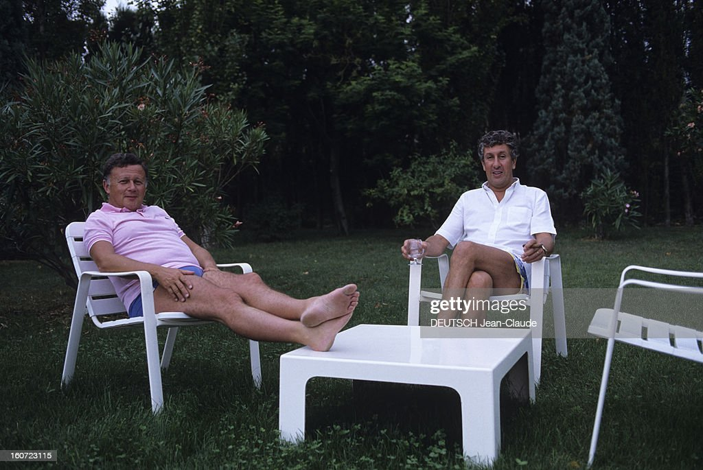 Rendezvous With Philippe Bouvard And His Wife Colette In Their Property In Valbonne : News Photo