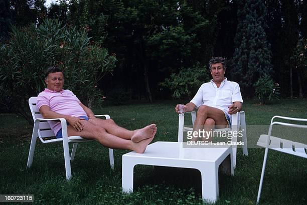 Rendezvous With Philippe Bouvard And His Wife Colette In Their Property In Valbonne En France à Valbonne en aout 1984 durant les vacances d'été dans...