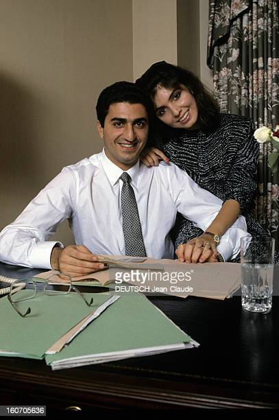 rendezvous-with-reza-pahlavi-and-yasmine-in-united-states-aux-en-picture-id160705636
