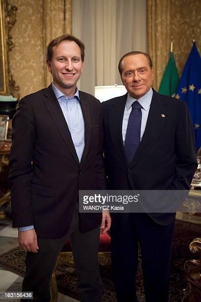 Rendezvous With Silvio Berlusconi In Rome Rome 7 décembre 2011 Silvio BERLUSCONI 75 ans reçoit 'Paris Match' chez lui au palais Grazioli un mois...