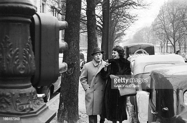 Rendezvous With Sophia Loren And Carlo Ponti In Paris France Paris 15 janvier 1958 l'actrice italienne Sophia LOREN et son époux le producteur...