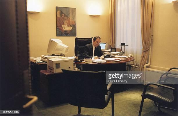 Rendezvous With Terrorism Judge JeanLouis Bruguiere JeanLouis BRUGUIERE travaillant dans son bureau de la galerie SaintEloi au quatrième étage du...