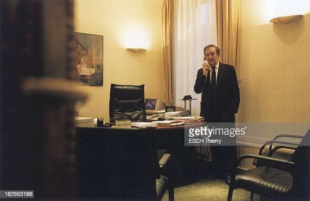Rendezvous With Terrorism Judge JeanLouis Bruguiere JeanLouis BRUGUIERE téléphant debout dans son bureau de la galerie SaintEloi au quatrième étage...