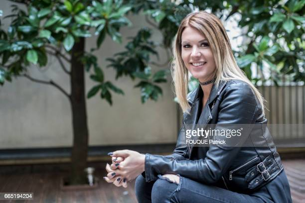 rendezvous with the Belgian writer Amelie Neten former star of the tv reality show Secret Story season 4 on march 22 2017 in Paris France