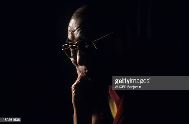 Rendezvous With The Dalai Lama Tenzin Gyatso In The Village Of Dharamsala India Where He Lives In Exile En Inde à Dharamsala en février 1989 le DALAI...
