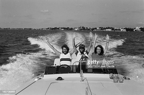 Rendezvous With The Gibb Brothers In Miami EtatsUnis Miami 8 novembre 1981 le groupe musical australobritannique formé par les trois frères GIBB...