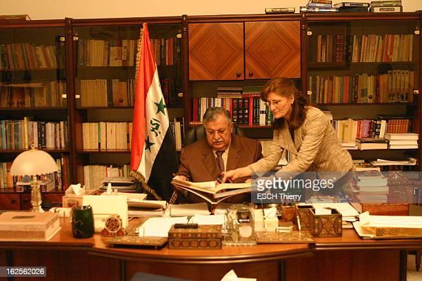 Rendezvous With The Iraqi President Jalal Talabani Premier président de l'Irak postSaddam Hussein Jalal TALABANI vit cloîtré dans son palais de...