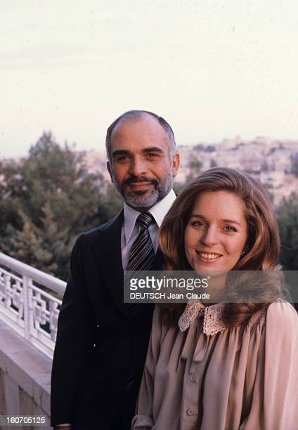 Rendezvous With The King Hussein Of Jordan With Family En Jordanie en novembre 1979 le Roi HUSSEIN DE JORDANIE et la Reine NOUR alias Lisa Najeeb...