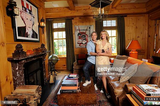 Rendezvous With Tommy Hilfiger At Home. Tommy Hilfiger Paris Match receives home on the eve of her marriage stylist posing with his future wife Dee...