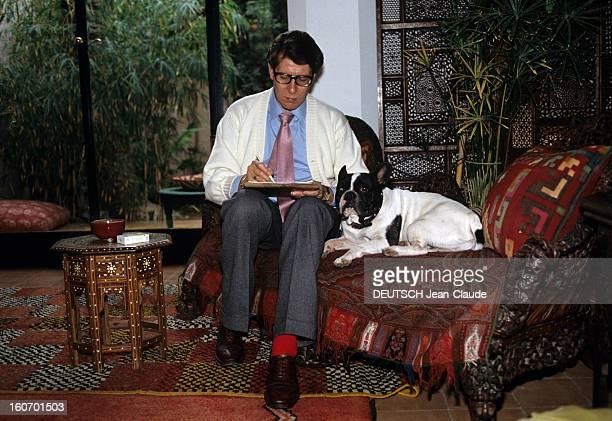 Rendezvous With Yves Saintlaurent In His Palace In Marrakech Marrakech novembre 1983 Chaque hiver Yves SAINTLAURENT retrouve les terrasses de la...