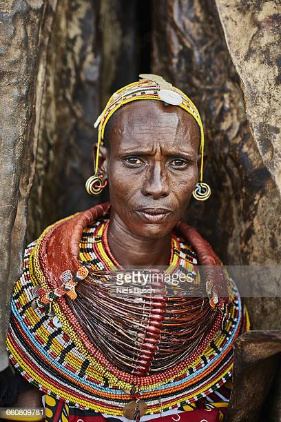 Rendille woman portrayed in her home