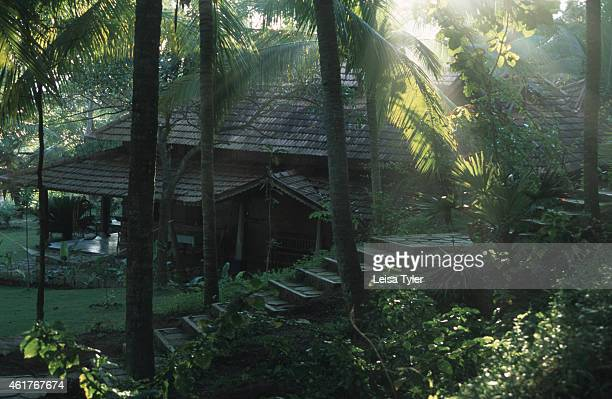 A rendition of a traditional Keralan house at Somatheeram Ayurvedic Beach Resort in Kerala the most southern state of India Although born in the...