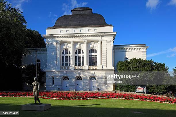 Rendsburg municipal theatre state theatre of SchleswigHolstein renaissance classicism bronze sculpture 'Eva' by Adolf Bruett