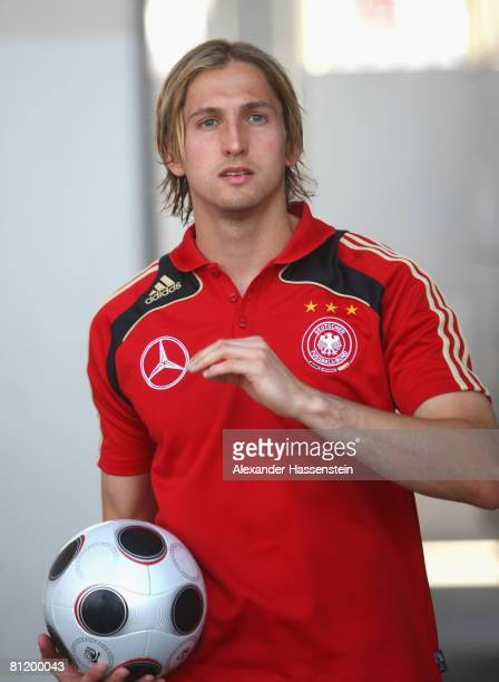 Rene Adler of Germany arrives for a photocall at the Son Moix stadium on May 22 2008 in Mallorca Spain