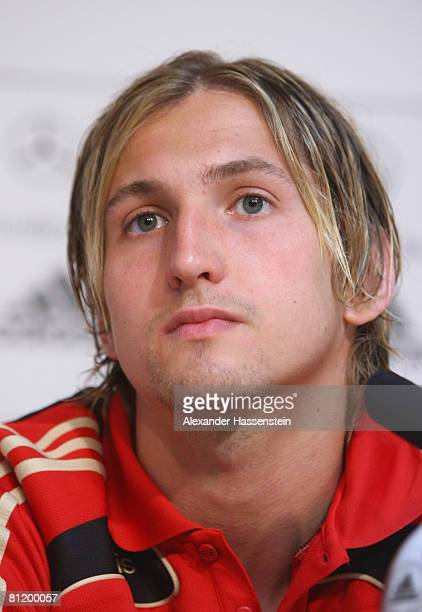 Rene Adler of Germany looks on during a press conference at the Son Moix stadium on May 22 2008 in Mallorca Spain