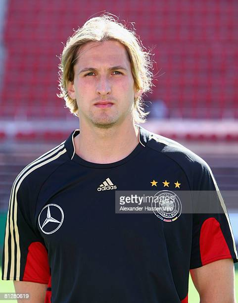 Rene Adler of Germany poses at the team photocall at the Son Moix stadium on May 29 2008 in Mallorca Spain