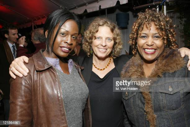 Rene Alberta, Kate Brown and Cassandra Bratton during 14th Annual Hamptons International Film Festival - Filmmaker Salute Party at Star Room in...