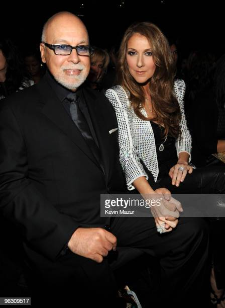 Rene Angeli and Celine Dion ttends the 52nd Annual GRAMMY Awards held at Staples Center on January 31 2010 in Los Angeles California