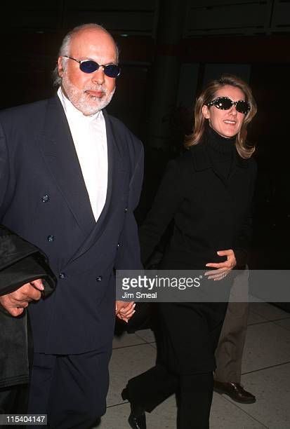 Rene Angelil and Celine Dion during Celine Dion and Rene Angelil Arrive at LAX from New York City January 23 1997 at Los Angeles International...