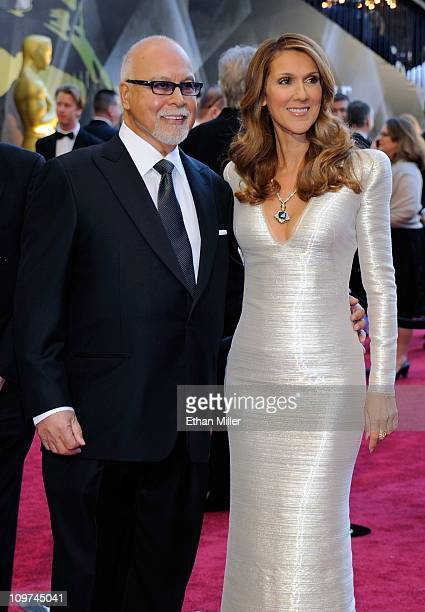 Rene Angelil and his wife singer Celine Dion arrive at the 83rd Annual Academy Awards at the Kodak Theatre February 27 2011 in Hollywood California