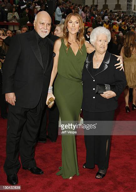 Rene Angelil Celine Dion and guest during The 79th Annual Academy Awards Arrivals at Kodak Theatre in Los Angeles California United States