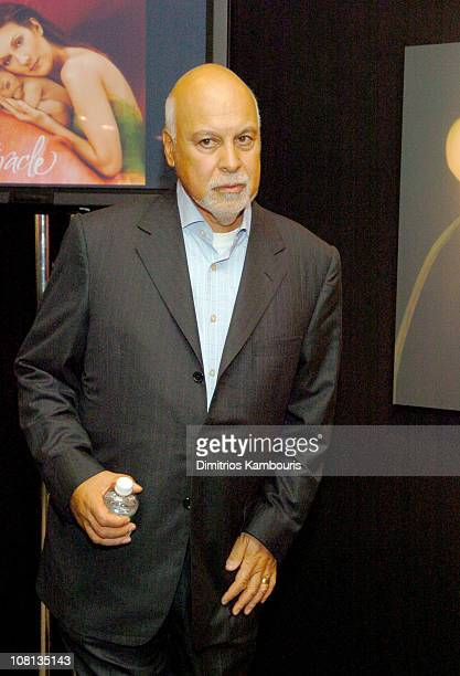 Rene Angelil during Celine Dion and Anne Geddes Collaborate on a Major New Work Miracle at Sony in New York City New York United States