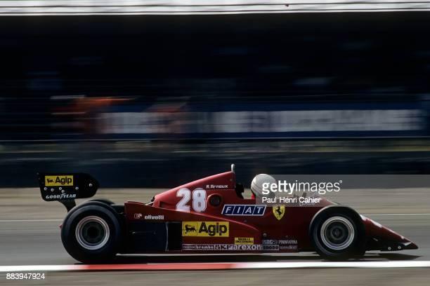 Rene Arnoux, Ferrari 126C3, Grand Prix of Great Britain, Silverstone Circuit, 16 July 1983.