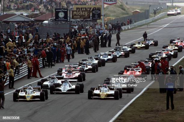 Rene Arnoux JeanPierre Jabouille Carlos Reutemann Alan Jones Renault RE20 WilliamsFord FW07 Grand Prix of the Netherlands Circuit Park Zandvoort 23...