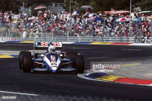 Rene Arnoux, Ligier-Renault JS27, Grand Prix of France, Circuit Paul Ricard, 06 July 1986.