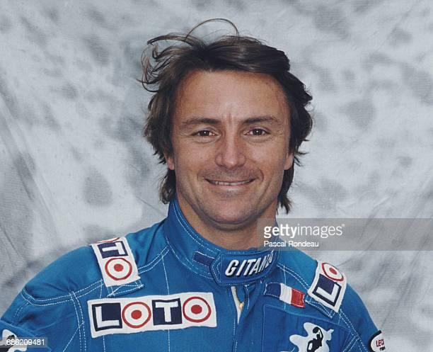Rene Arnoux of France, driver of the Ligier Loto Ligier JS33 Ford Cosworth DFR V8 poses for a portrait during pre season testing on 1 February 1989...