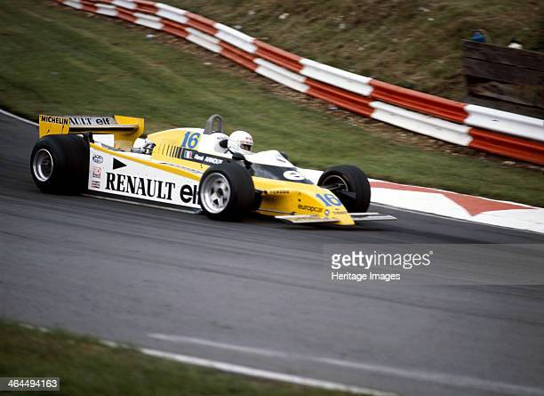 Rene Arnoux racing a Renault RE20 British Grand Prix Brands Hatch 1980 He was a member of the factory Renault turbo team from 1979 to 1982 and won...