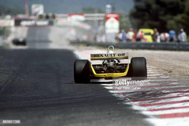 Rene Arnoux, Renault RE20, Grand Prix of France, Circuit Paul Ricard, 29 June 1980.