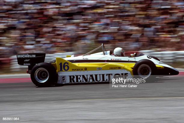 Rene Arnoux, Renault RE30B, Grand Prix of France, Circuit Paul Ricard, 25 July 1982. Rene Arnoux on the way to victory in the 1982 French Grand Prix.