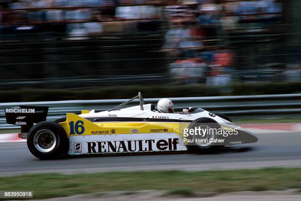 Rene Arnoux, Renault RE30B, Grand Prix of Italy, Autodromo Nazionale Monza, 12 September 1982.