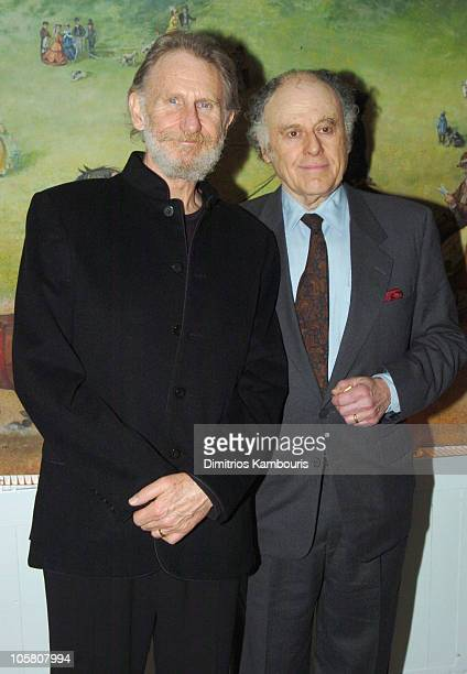 Rene Auberjonois and Bob Dishy during Opening Night of Sly Fox After Party at Tavern On The Green in New York City New York United States