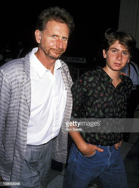 Rene Auberjonois and son RemyLuc Auberjonois during Phantom of the Opera Los Angeles Performance at Ahmanson Theatre in Los Angeles Cailifornia...