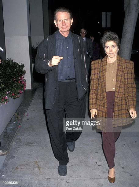Rene Auberjonois and wife Judith Mahalyi during Elizabeth R Los Angeles Premiere at WGA Theater in Beverly Hills California United States