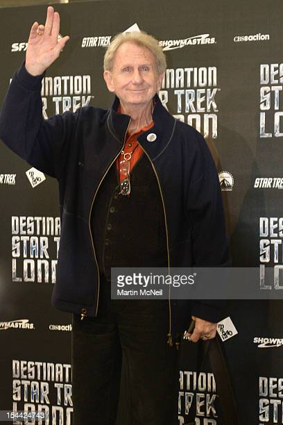 Rene Auberjonois attends a photocall at Destination Star Trek London at ExCel on October 19 2012 in London England
