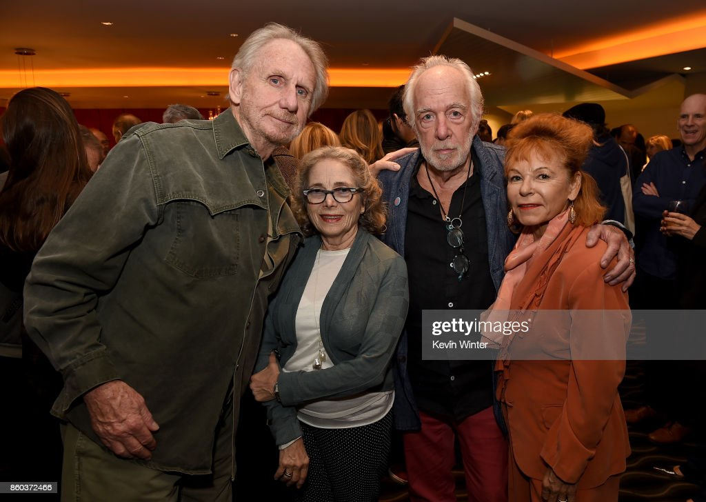 Rene Auberjonois, Judith Mihalyi, Howard Hesseman and Caroline Ducrocq attend the after party for the premiere of Cohen Media Group's 'Faces Places' at Pacific Design Center on October 11, 2017 in West Hollywood, California.
